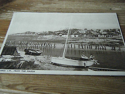 1938 Sweetman Card -  Gurnard - Isle Of Wight From The Marsh - 37430  Franked