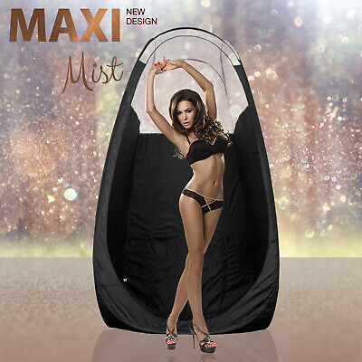 MaxiMist - Black Spray Tan Tent / Pop Up Booth - Black - Clear View Edition
