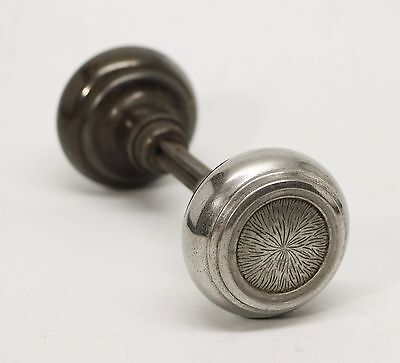 Simple Interior Brushed Chrome Doorknob Set