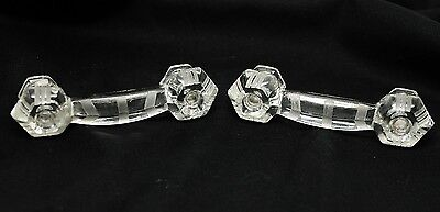 Pair of Deco Glass Drawer Pulls