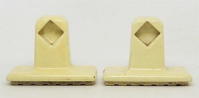 Pair of Yellow Porcelain Towel Brackets