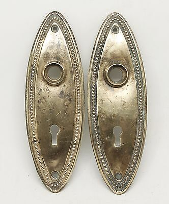 Pair of Beaded Brass Plates