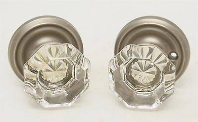 Pair of Glass Doorknobs with Large Star Bullet
