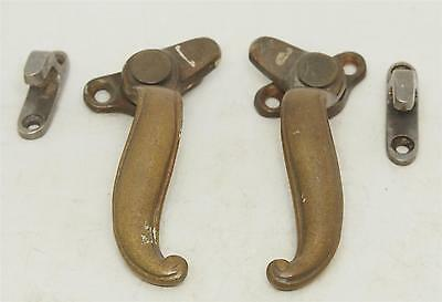Pair of Left & Right Bronze Shutter Latches