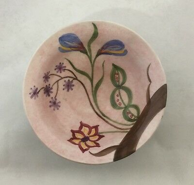 Vintage Hand Painted Multi Color Flowers Ceramic Bowl Dish. Made in England