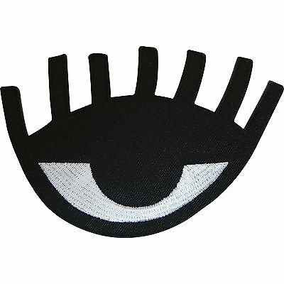 Embroidered Iron On Eye Badge Sew On Patch Biker Jacket Clothes Bag Embroidery