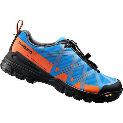 Shimano MT54 Flat Sole Cycling Shoes - Blue/Orange