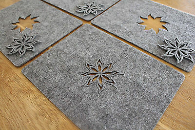 50 Shape of Grey New Placemats and Coaster Fire Aster Shape Felt Table Mats