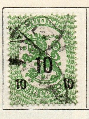 Finland 1918 Early Issue Fine Used 10p. Surcharged 105510