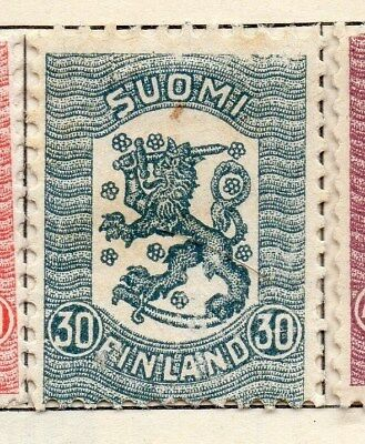 Finland 1918 Early Issue Fine Mint Hinged 30p. 105558