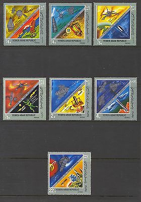Yemen 1969 7 Values Flight to the Planets Space   MNH