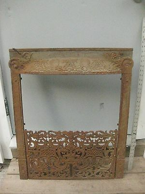 Antique Victorian Cast Iron Fireplace Insert  Architecture Iron Fireplace cover