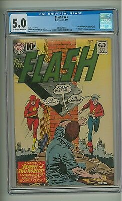 Flash 123 (CGC 5.0) OW/W pages; 1st GA Flash in SA and origin of both (c#10367)