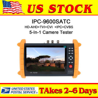 "US 7"" LCD Monitor Security CCTV Tester IP Address/POE HD-AHD+CVI+TVI camera test"