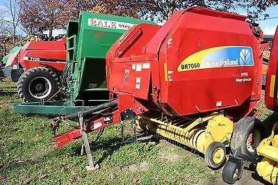 New Holland BR7060 4X5 Round Baler. Silage Special. Auto Wrap. Extra Wide Pickup