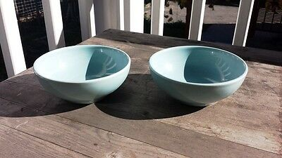 Pair of Russell Wright Iroquois Casual Bowls – Turquoise