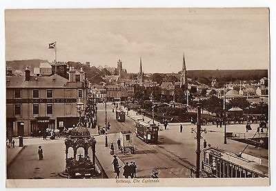 The Esplanade Rothesay Isle Of Bute Vintage Trams Etc Unposted Giant Card
