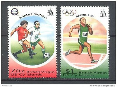 British Virgin Islands 2004  FIFA and Olympic Games MNH
