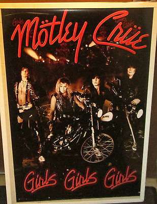 MOTLEY CRUE POSTER NEW 2016 GIRLS GIRLS GIRLS limited production run