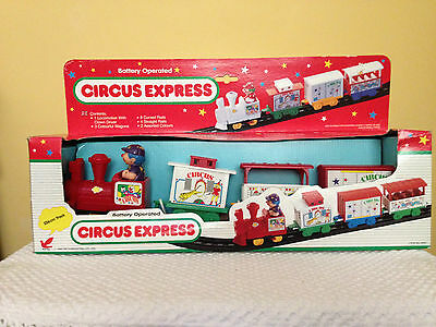 Battery Operated Circus Express Train with Track