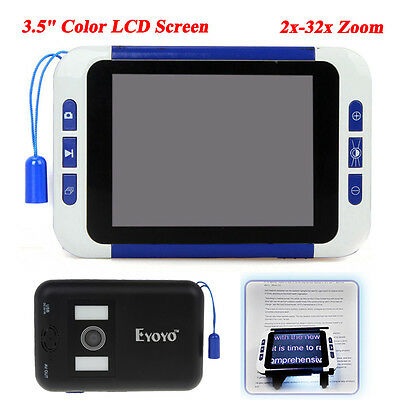 """Eyoyo 3.5"""" 2-32X Video Digital Vision Care Magnifier Electronic Reading Aiding"""