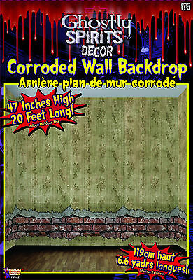 Ghostly Decor Corroded Wall Backdrop Haunted Mansion Scene Setter Halloween