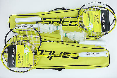 Badminton Set 4 Players New Rackets Case Recreational Sports New Portable Games