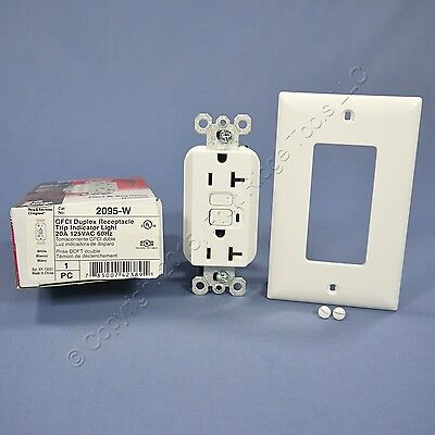 Pass and Seymour Specification Grade 20A GFCI White Receptacle GFI Outlet 2095-W