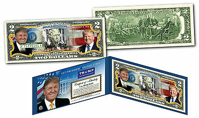 DONALD TRUMP 45th President of United States Official Legal Tender U.S. $2 Bill