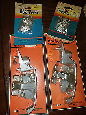 Lot of Aluminum Storm Door Hardware Thumb Screwer and Latches