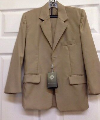 Boys Bijan Kids Collection  2-Piece Khaki Suit Style SH628 For All Seasons New