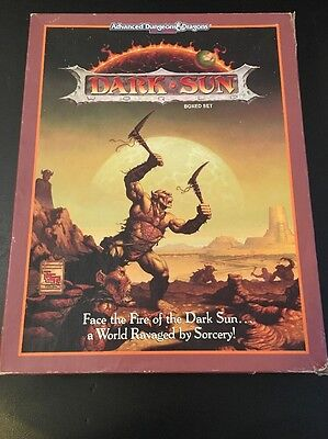 Dark Sun Box Set Advanced Dungeons & Dragons 2nd Edition TSR 2400 AD&D complete