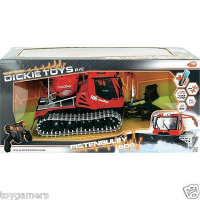 Dickie Toys Remote Control R/C Snow Groomer Pistenbully 1:32 Plow - Brand New