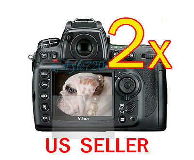 2x Clear LCD Screen Protector Guard Cover Film For Nikon DSLR D7000