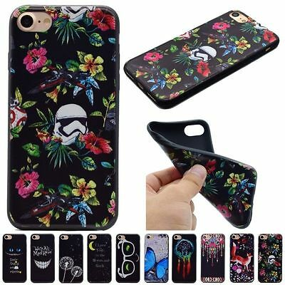 Soft TPU Fashion Rubber Shockproof Back Case Cover For Apple iPhone 7 7Plus