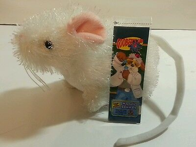 "Ganz Lil'Kinz Plush Toy""White Mouse""HS207-no code-&-new Webkinz Bookmark w/code"