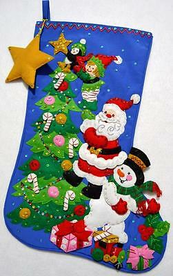 """""""the Finishing Touch""""  Bucilla Felt 21"""" Christmas Stocking~Ready To Hang"""