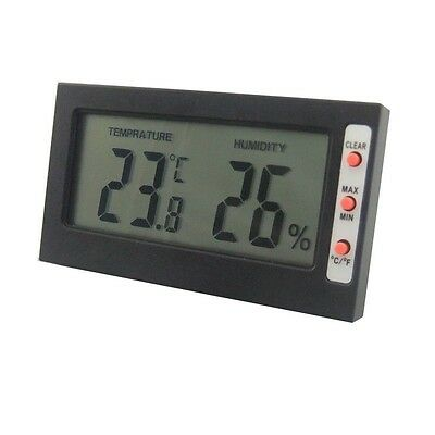 Indoor Digital LCD Temperature Meter Humidity Thermometer 0~50℃ 10%~99%RH