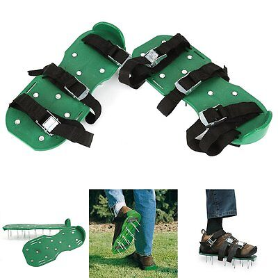 Lawn Aerator Shoes Heavy Duty Spiked Sandals for Aerating Lawn Yard Garden