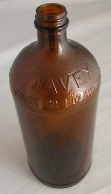 Javex 32 Oz Glass Brown Bottle