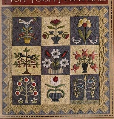 Pick Your Flowers - beautiful applique & pieced quilt PATTERN