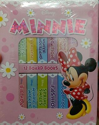Minnie Mouse! My First Library Box Set of 12 Board Books NEW