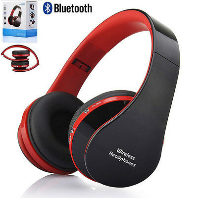 3D Foldable Wireless Bluetooth Stereo Headset Mic Handsfree Headphone For iphone