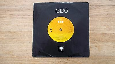 """U2 7"""" Out Of Control Cbs Pressing"""