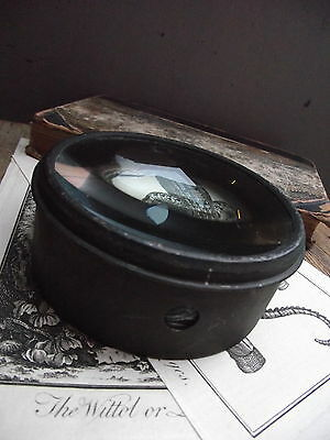 Antique Magnifying Glass Paperweight desk old vintage paper weight early office