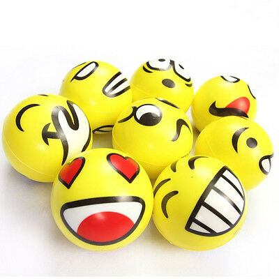 Emoji Smiley FaceS Anti Stress Reliever Ball ADHD Autism Mood Toy Squeeze Relief