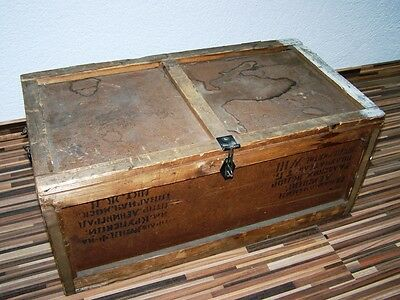 Beautiful old Wooden box Transport chest, Art Deco Vintage Design Treasure chest