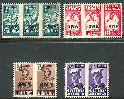 South West Africa 1943 reduced size part set mint SG123b/124/125/126