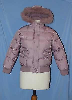 NEXT girls dusky pink  super warm padded winter hooded coat 9-10 years