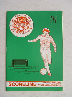 Hyde United v Stockport County 1985/86 Cheshire Senior Cup